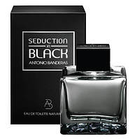 """Antonio Banderas Seduction in Black 100ml edt (""""Черное искушение"""" с мужественным, чувственным характером)"""
