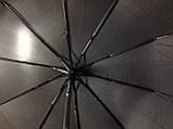 "Чоловічий напівавтомат зонт на 10 спиць системи ""антиветер"" ручка гачок., фото 2"