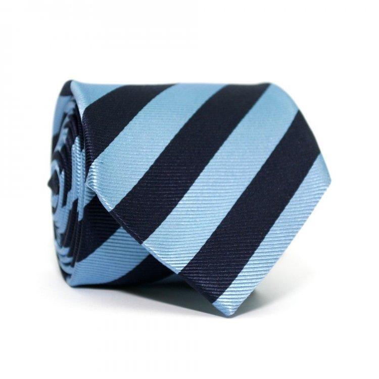 Галстук Emilio Corali в полоску 146х8.5 см Сине-голубой GIN-2341, КОД: 187779