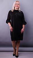 Платье больших размеров Гледис чорний , фото 1