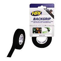 HPX BACKGRIP - Стяжка-липучка для бандажа кабелей 16мм x 5м х 1.25мм, чёрная, для многократных креплений, фото 1