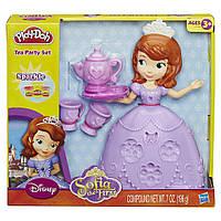 """Пластилин, игровой набор Плей До Play-Doh """"Чайная церемония у принцессы Софии"""" A7398"""