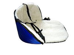 Матрацик підстилка на санки колір синій