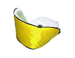 Матрацик підстилка на санки колір жовтий