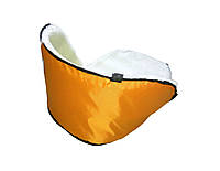 Матрасик подстилка на санки цвет оранжевый, фото 2
