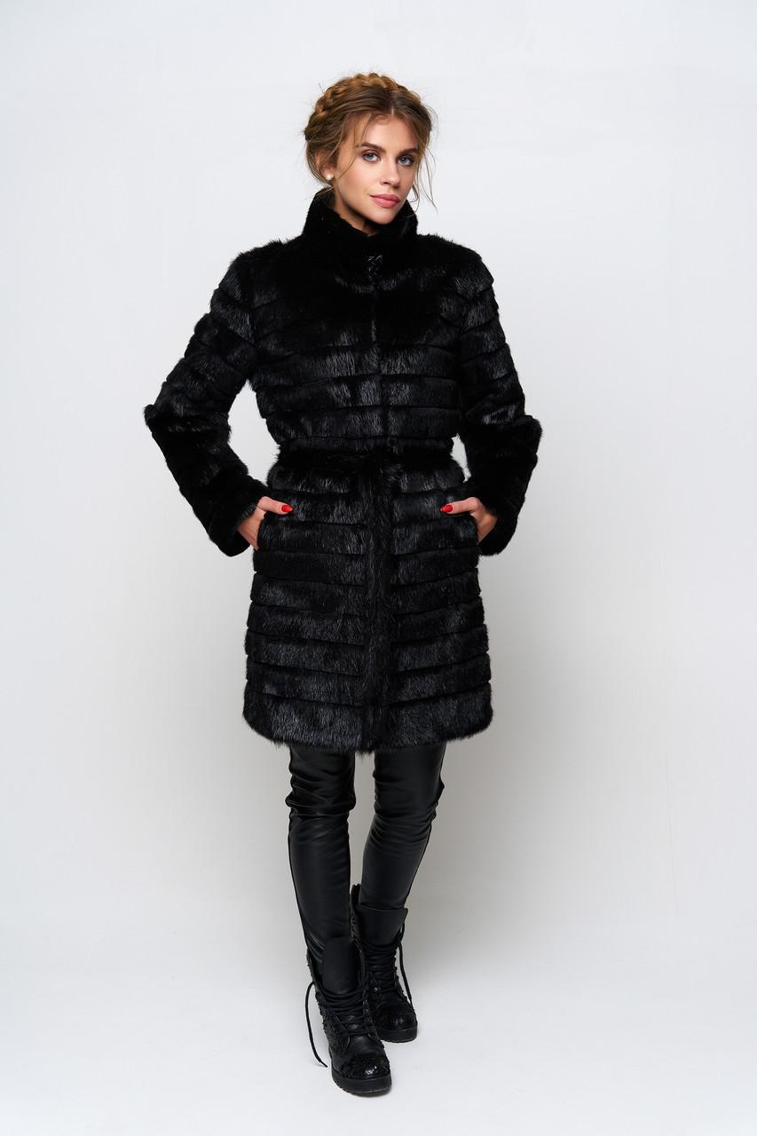 Шуба пальто женское Ляля, женская шуба нутрия