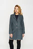 Пальто Ева, деми, шерсть, оливковый