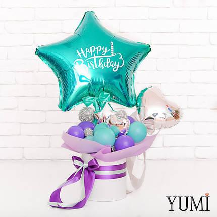 Композиция из мини-фигур с изумрудной звездой Happy Birthday, фото 2