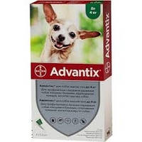 ADVANTIX АДВАНТИКС капли от блох и клещей для собак весом до 4кг.