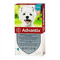ADVANTIX АДВАНТИКС капли от блох и клещей для собак весом от 4 до 10 кг