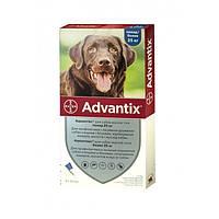 ADVANTIX АДВАНТИКС капли от блох и клещей для собак весом свыше 25кг.