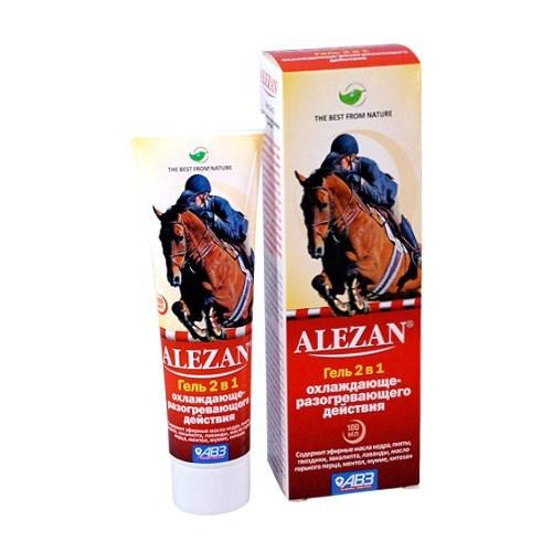 ALEZAN Алезан гель двойного действия для лошадей красный 100 мл МЛ