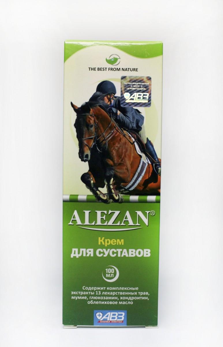 ALEZAN Алезан крем - гель для суставов лошадей зелёный100 мл
