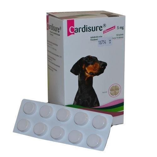 CARDISURE 5 mg КАРДИШУР 5 мг 100 табл. Для лечения сердечной недостаточности у собак