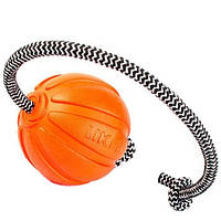 LIKER ЛАЙКЕР корд на шнуре - мячик для собак, 7 см
