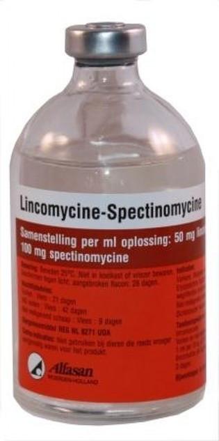 LINCOMYCINE - SPECTINOMYCINE 10% Линкомицин-Спектиномицин лечение пневмонии, энтерита 100мл