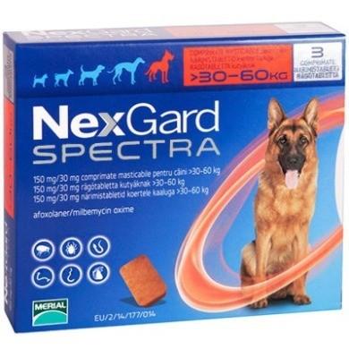 NEXGARD SPECTRA НЕКСГАРД СПЕКТРА таблетки от блох и клещей для собак весом 30-60 кг