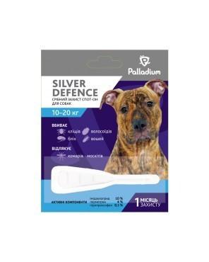 PALLADIUM SILVER DEFENCE ПАЛЛАДИУМ СИЛЬВЕР ДЕФЕНС капли на холку от блох, клещей и комаров для собак весом 10 - 20 кг