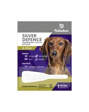 PALLADIUM SILVER DEFENCE ПАЛЛАДИУМ СИЛЬВЕР ДЕФЕНС капли на холку от блох, клещей и комаров для собак весом 4 - 10 кг