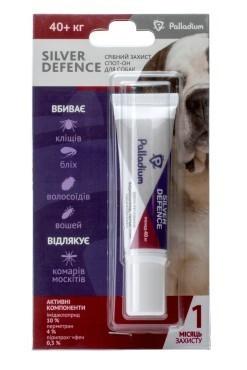 PALLADIUM SILVER DEFENCE ПАЛЛАДИУМ СИЛЬВЕР ДЕФЕНС капли на холку от блох, клещей и комаров для собак весом более 40 кг