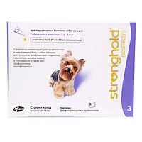 STRONGHOLD Стронхолд 30 мг для малых собак весом от 2,6 до 5 кг капли на холку от блох 1 пипетка