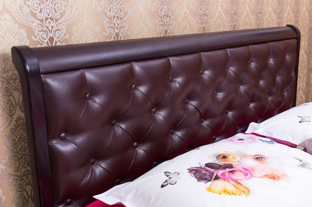 Кровать двуспальная Ассоль мягкое изгловье ромб