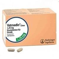 VETMEDIN ВЕТМЕДИН 1,25 мг для лечения сердечной недостаточности у собак, 50 таблеток