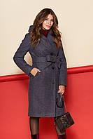 Пальто Варшава, зима, шерсть, фиолетовый