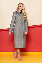 Пальто Милана, шерсть, серый