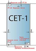 СЕТ-1 => К-т фурнитуры для стеклянных дверей типа Dorma РТ Universal Light