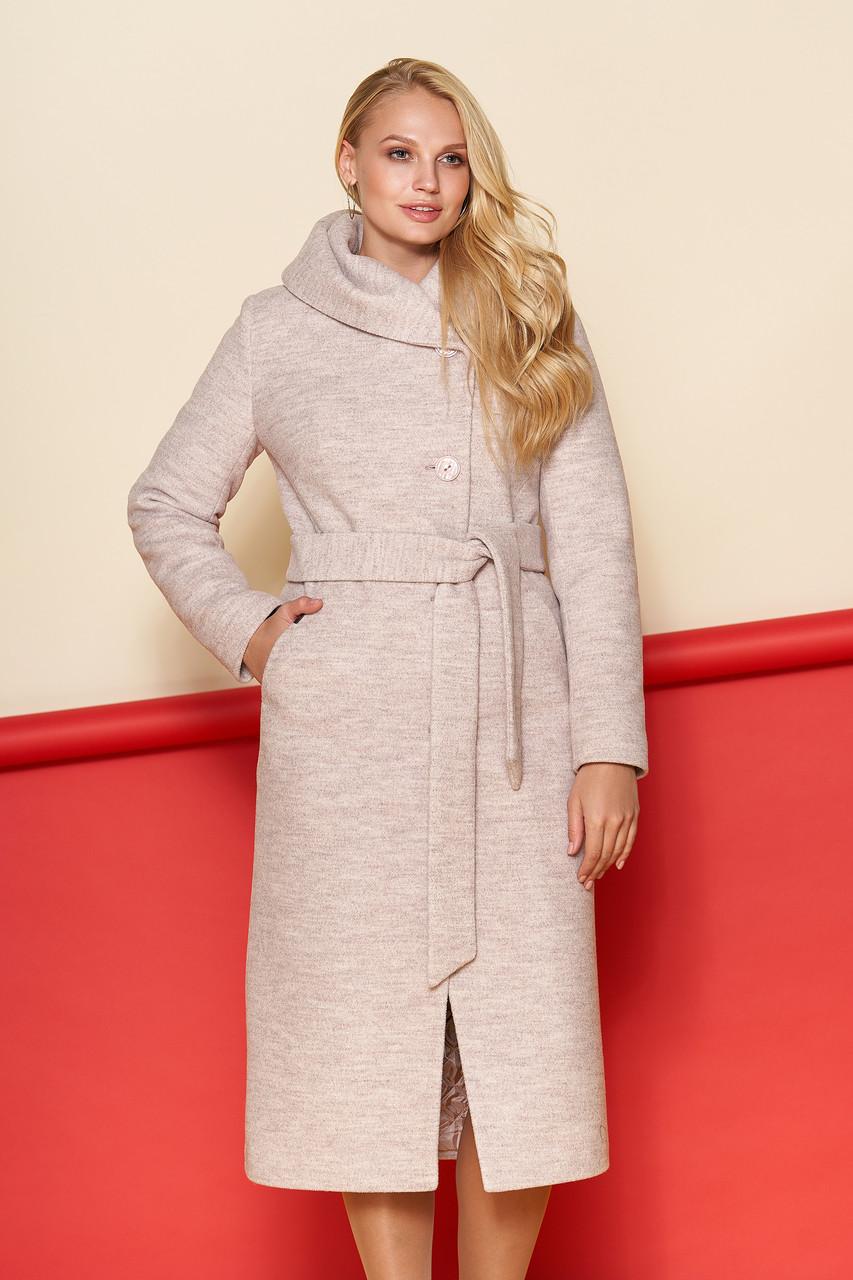 a114442138b6c0 Пальто NIO Прага 44 бежевый - Интернет-магазин женской верхней одежды