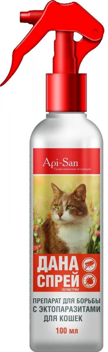 ДАНА - спрей для кошек от блох и клещей, 100 мл