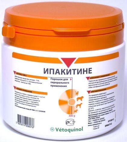 ИПАКИТИНЕ для лечения хронической почечной недостаточности у собак и кошек, 300 гр