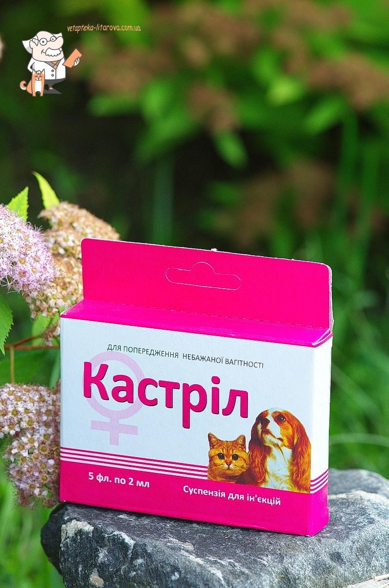 КАСТРИЛ для профилактики эструса течки у анэструальных самок собак и кошек., 5 ампул по 2 мл