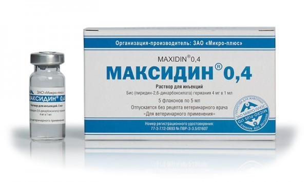 МАКСИДИН 0,4% иммуномодулятор при вирусных инфекциях для собак и кошек 5 мл.