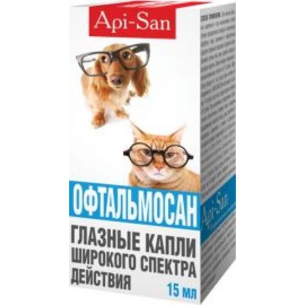 ОФТАЛЬМОСАН глазные капли для собак и кошек 15 мл