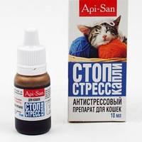 СТОП СТРЕС заспокійливі краплі для кішок 10 мл