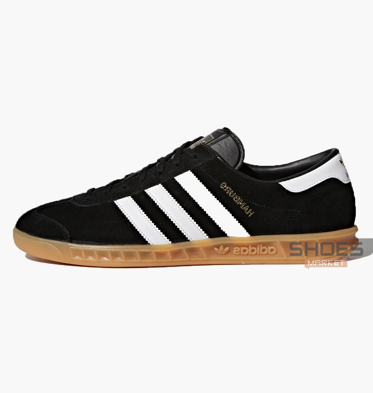 Мужские кроссовки  Adidas Hamburg Black S76696, оригинал