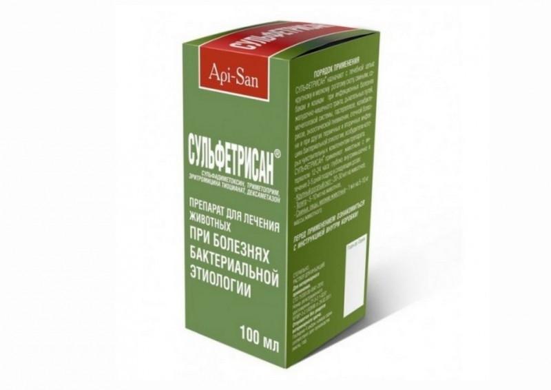 СУЛЬФЕТРИСАН - инъекционный антибиотик, 100 мл