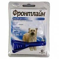 ФРОНТЛАЙН СПОТ-ОН капли от блох и клещей для собак от 10 до 20 кг монопипетка