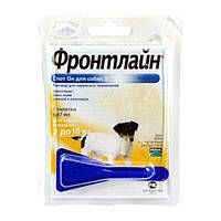 ФРОНТЛАЙН СПОТ-ОН краплі від бліх та кліщів для собак від 2 до 10 кг монопипетка
