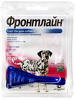 ФРОНТЛАЙН СПОТ-ОН капли от блох и клещей для собак от 20 до 40 кг монопипетка
