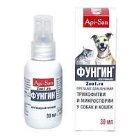 ФУНГИН спрей для лечения трихофитии и микроспории у собак и кошек 30 мл