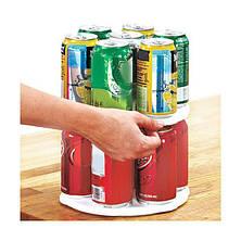 Вращающаяся двухуровневая подставкадля банок и консервов Can Tamer, фото 3