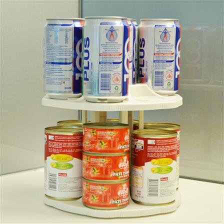 Вращающаяся двухуровневая подставкадля банок и консервов Can Tamer, фото 2