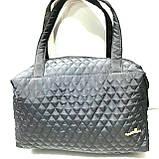 Женские стеганные вместительные сумки оптом (6 цветов)30*42см, фото 4