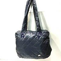Стеганные женские сумки (синий глянец)28*31см, фото 1
