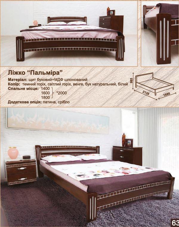 Кровать двуспальная Пальмира (характеристики)