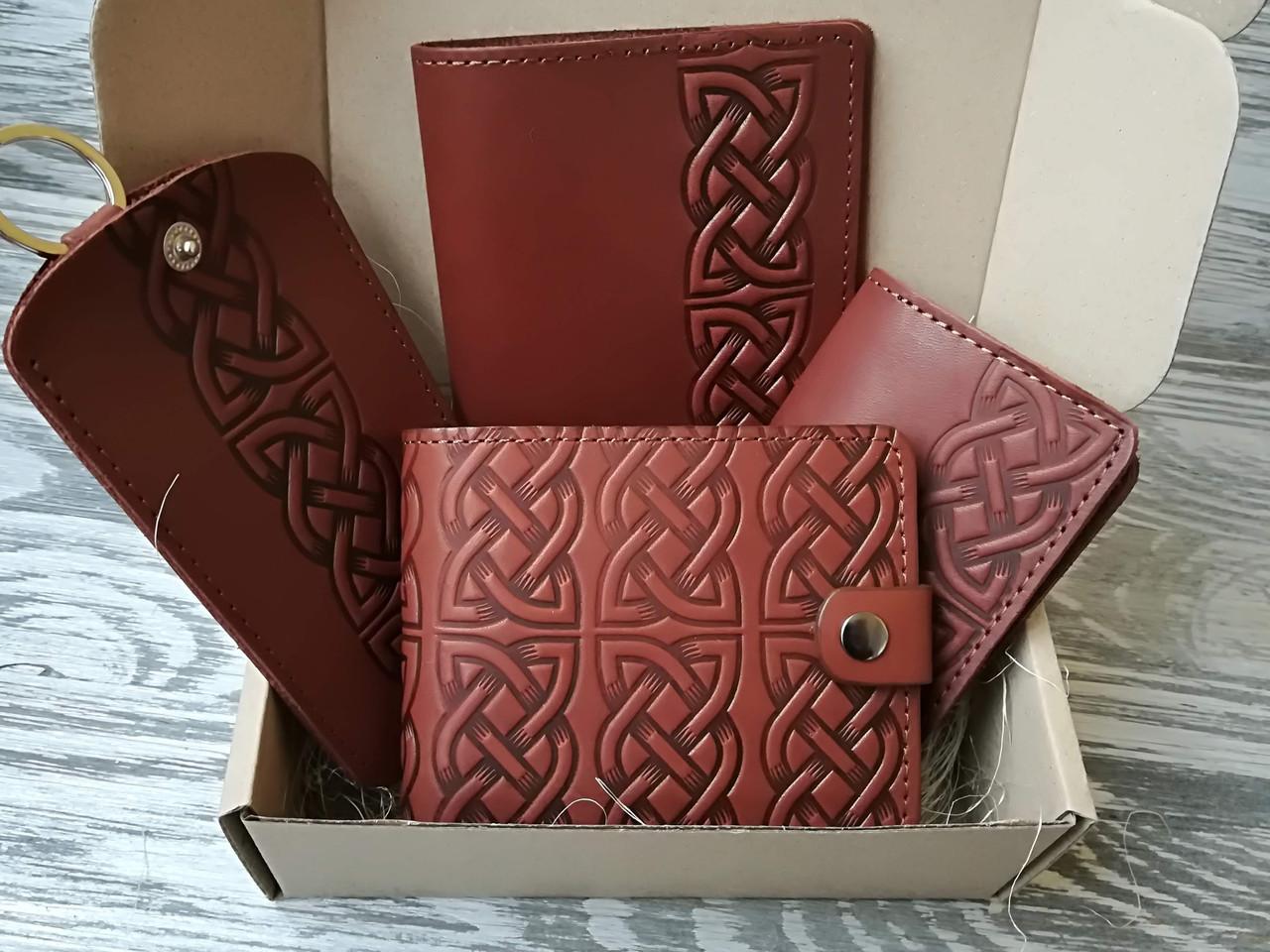 Подарочный набор коричневый кельтский узел (4 предмета)