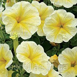 Семена петунии Лавина F1, 50 драже, ампельная крупноцветковая желтая звезда